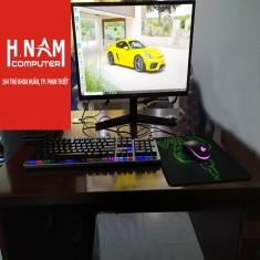 FULLSET PC Gaming B365MORTAR/cpu i3 9100F/GTX 1050TI ASUS/RAM TẢN NHIỆT 8G/SSD 240G/LCD LG 24 INCH