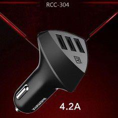 Sạc xe hơi Remax 4.2A 3 cổng USB