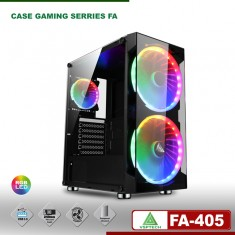 Vỏ Case Esport gaming FA-405 - Có sẵn 3 Fan