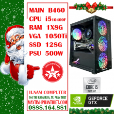 Cấu hình PC B460M Motar CPU i5 10400F RAM 8G VGA 1050Ti SSD 128G PSU 500W