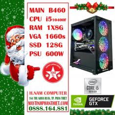 Cấu hình PC B460M Motar CPU i5 10400F RAM 8G VGA 1660s SSD 128G PSU 600W