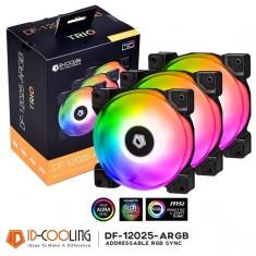 Bộ 3 Quạt Tản Nhiệt ID-COOLING DF-12025 ARGB TRIO