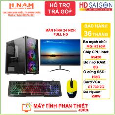 Trọn bộ PC Gaming: H310M/G5420/RAM 8G/SSD 128G/GT 730 2G/LCD 24 inch