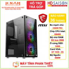 Cấu hình PC Gaming - Thế hệ 10 - H410M - G6400 - RAM 8G - SSD 128G - GT 1030 2G