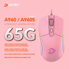Chuột Gaming DAREU A960s QUEEN - ULTRALIGHT (HUNTER PWM3336, LED RGB)