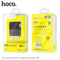 Cốc sạc nhanh Hoco C42 Quick Charge 3.0