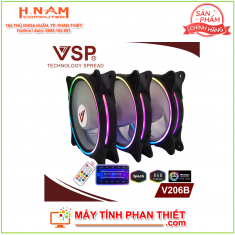 Bộ 3 Fan case led RGB V206B
