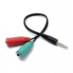 Cáp chia Audio 3.5mm ra mic và loa