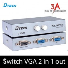 Bộ chia VGA 2 CPU chia 1 màn hình DTECH