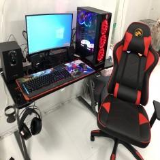 FULLSET PC Gaming B365M/I3 9100F/GTX 1050ti 4gb/RAM 8G/SSD 240GB/LCD 24 inch cong/Bàn &ghế E-dra